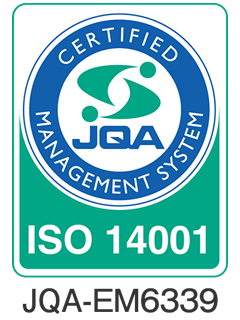 ISO14001認証取得 登録証番号:JQA-EM6339